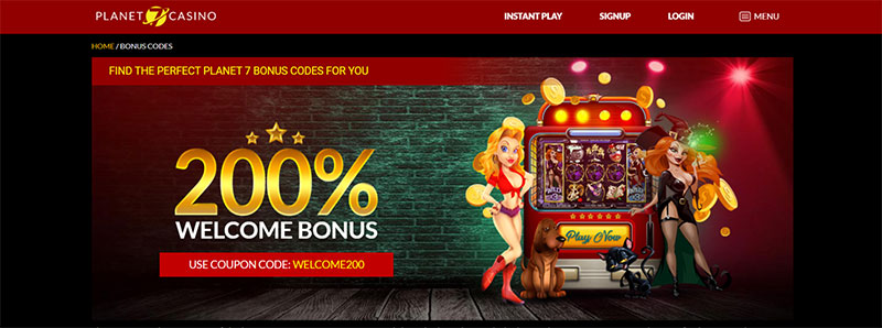 Welcome Bonus at Planet 7 Casino