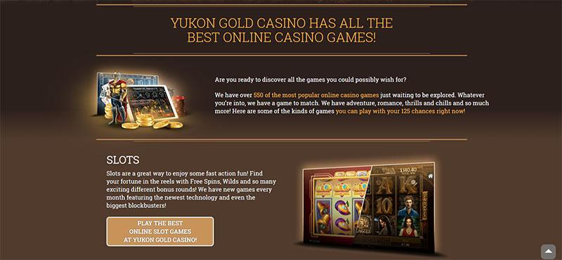 Jeux de Yukon Gold
