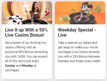 Leo Vegas Bonuses