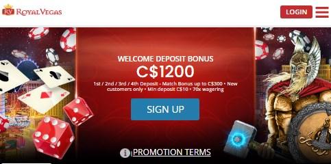 Royal Vegas Welcome Bonus