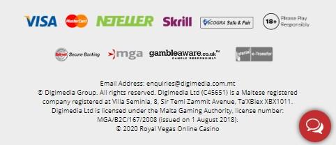 Royal Vegas Payment